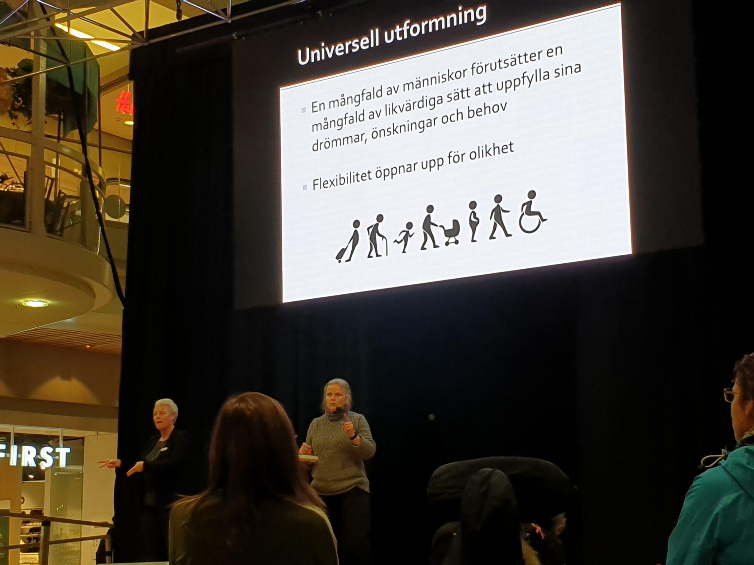 Charlotte Magnusson från Certec föreläste om universell utformning.